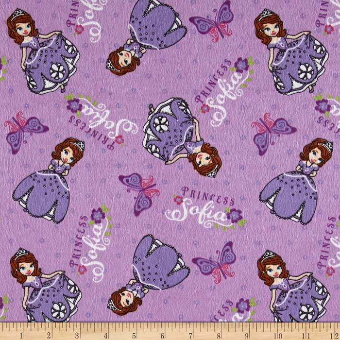 Disney Sofia The First Flannel Princess Sofia Purple