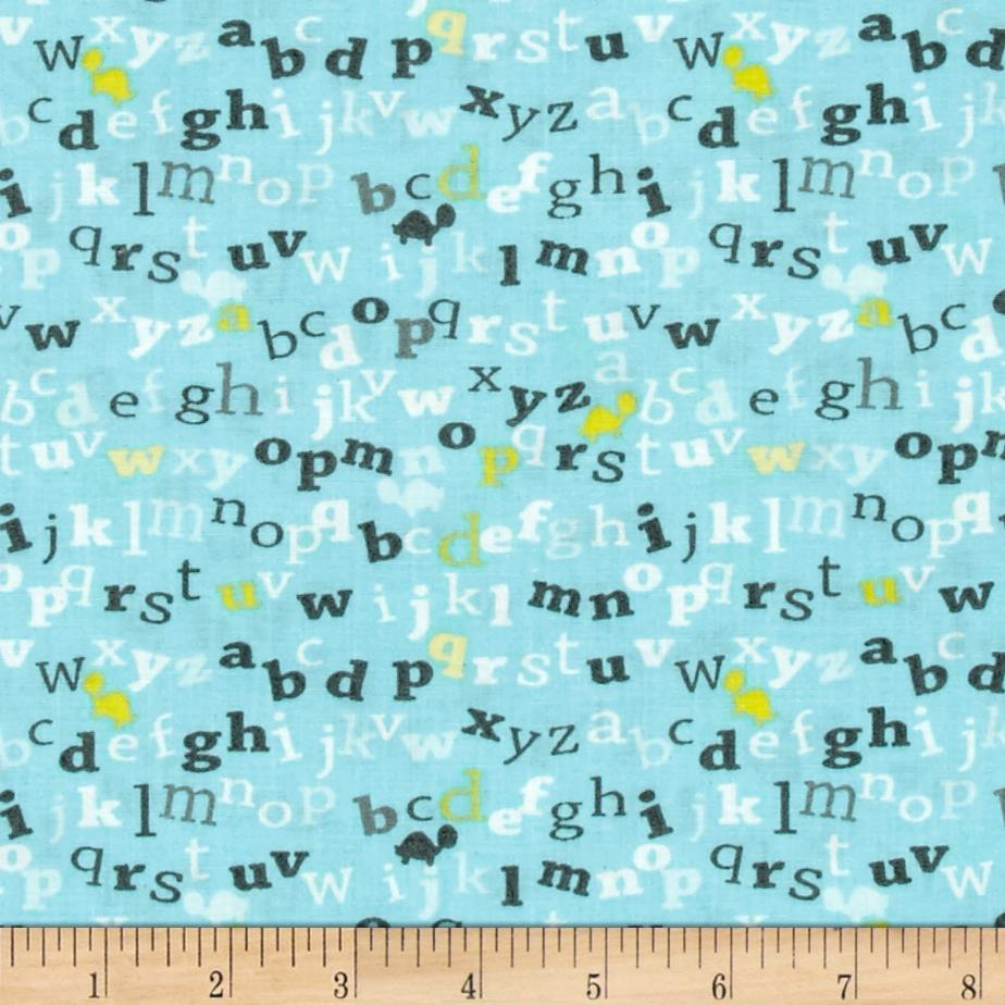 Sanyo Letters Turquoise