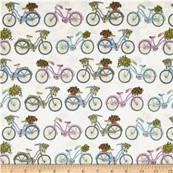 Antique Garden Bicycles Cream