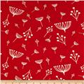 Birch Organic Interlock Knit Charley Harper Twigs Tomato