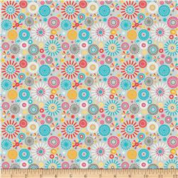 Riley Blake Girl Crazy Petals Grey