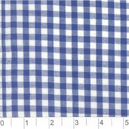Woven 1/4 Gingham Royal Blue Fabric