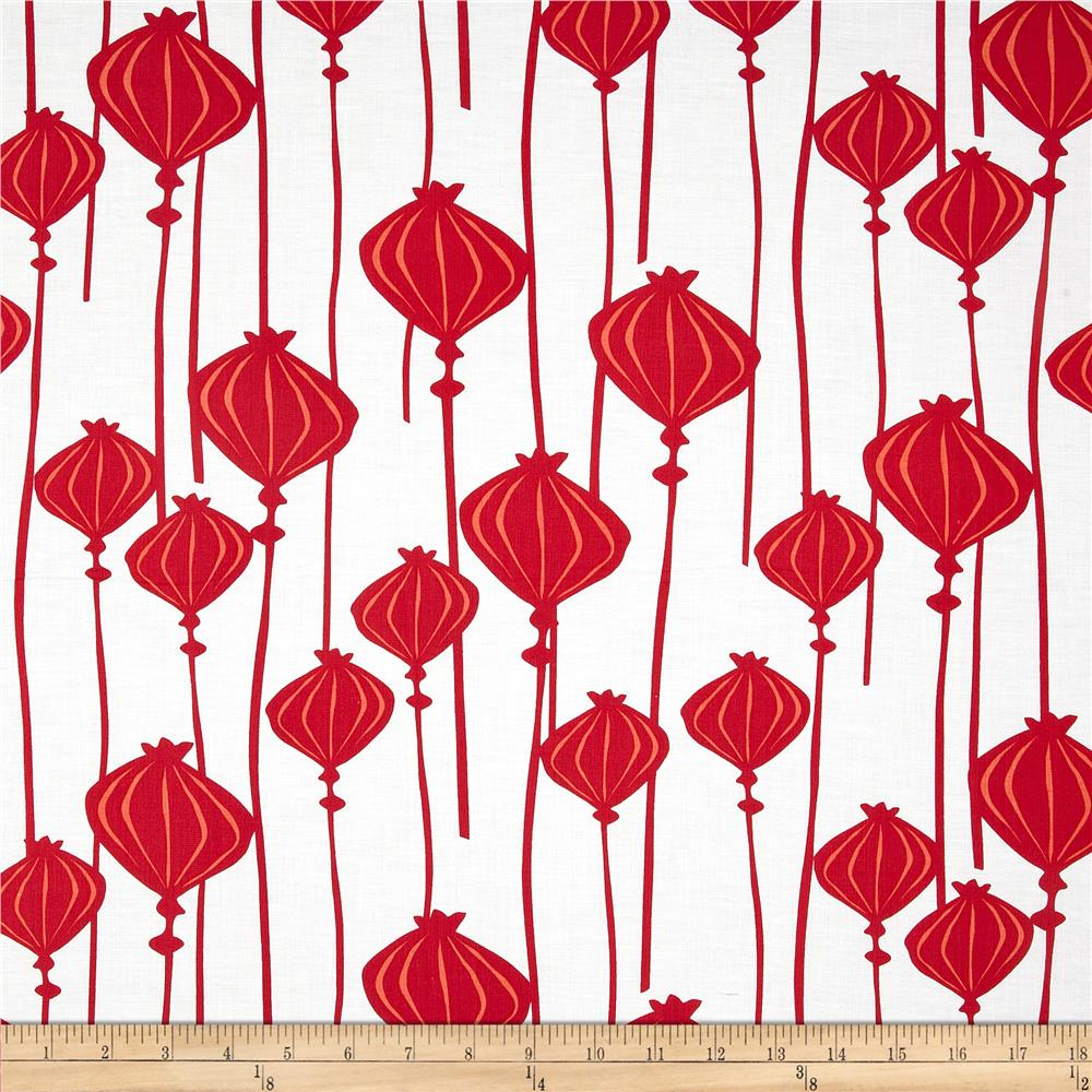 Poppy Modern Poppy Bud Stripe Red
