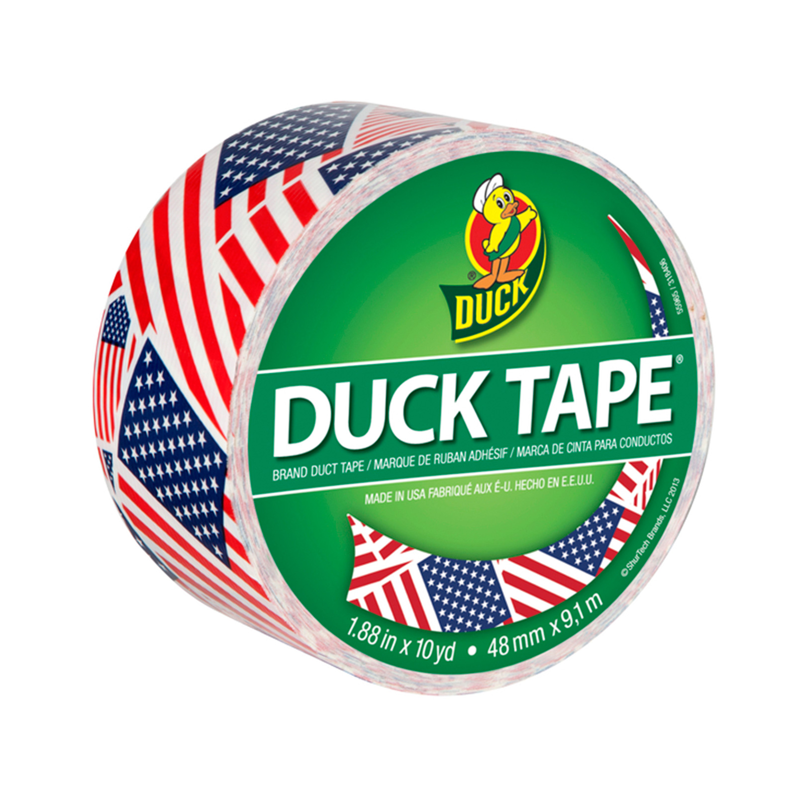 Patterned Duck Tape 1.88'' x 10yd-US Flag by Notions Marketing in USA
