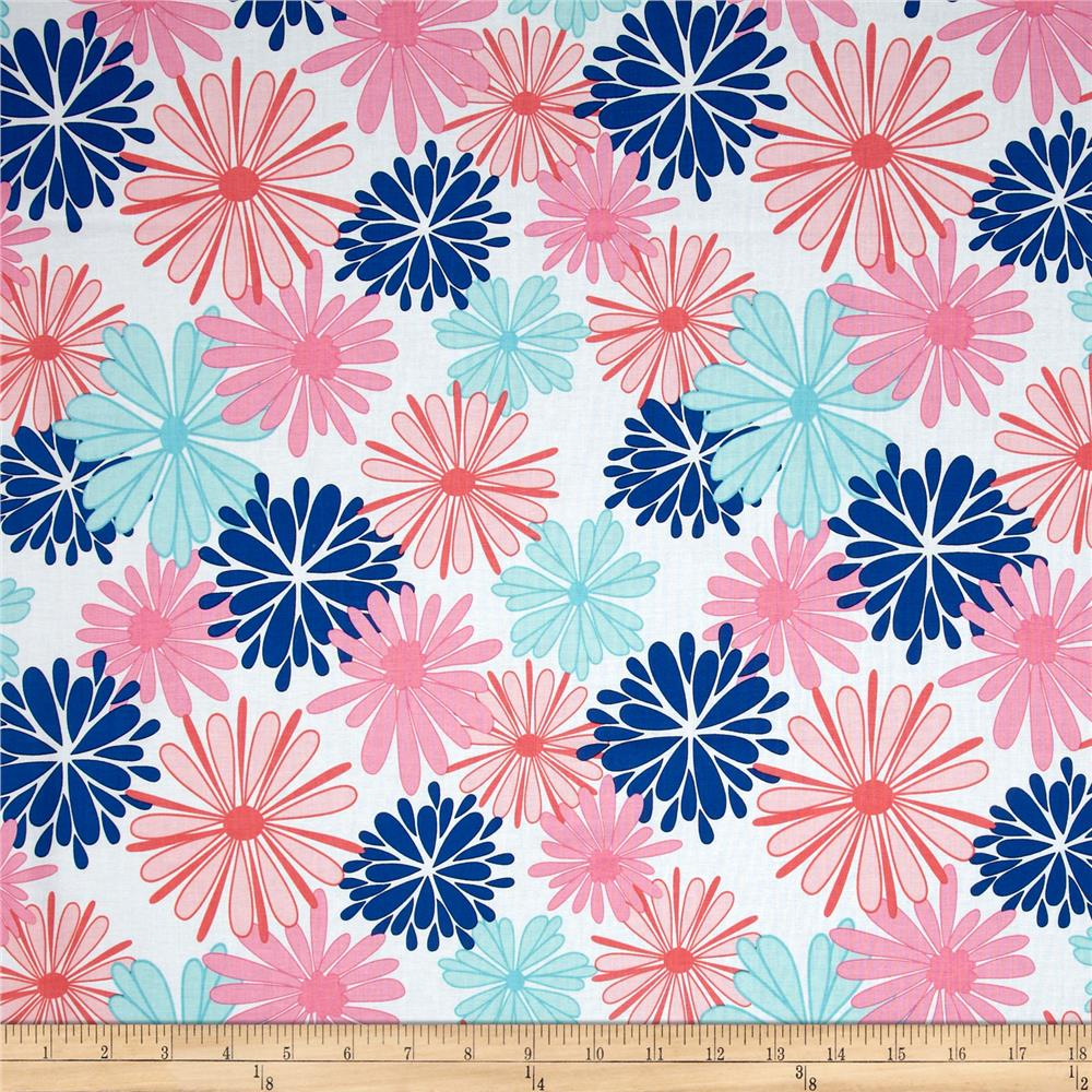 Riley Blake Floriography Large Floral Blue