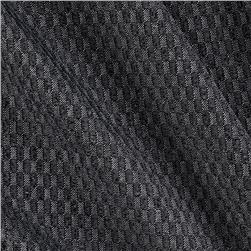 Lycra Blend Jersey Knit Checkered Charcoal