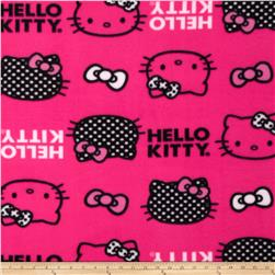 Hello Kitty Fleece Set Head Toss & Bows Pink