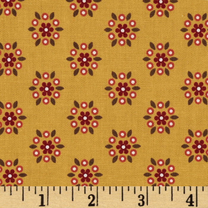 Provence & Beyond Tossed Geo Gold Fabric