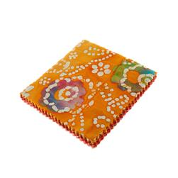 "Indian Batiks Assorted 5"" Charm Pack Dark Coral/Orange"