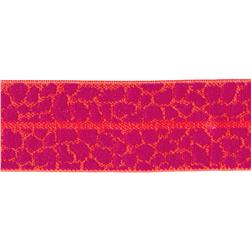 Dritz 1'' x 1 Yard Fold-Over Elastic Animal Skin Orange/Red