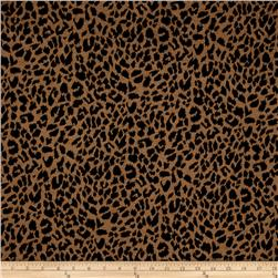 Jacquard Knit Cheetah Print Black/Tan