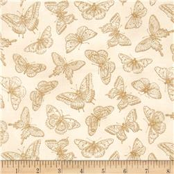 Butterfly Botanical Tonal Butterflies Tan