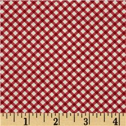 Moda Ambleside Gingham Rosy Red