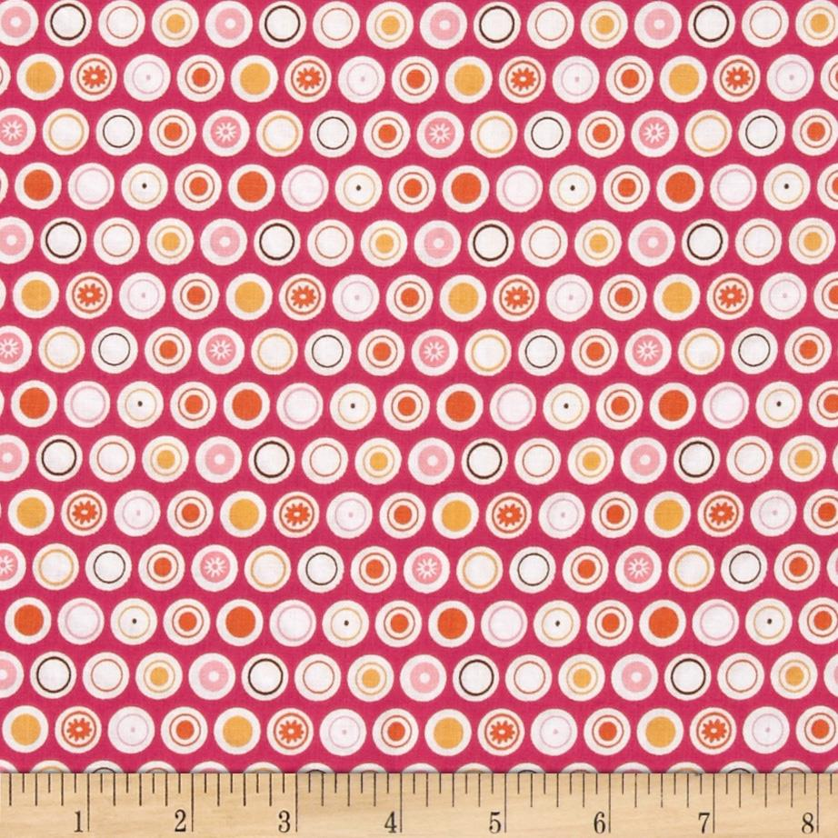 Riley Blake Flower Patch Dots Raspberry