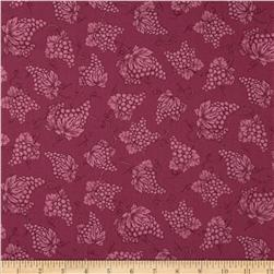 Vineyard Haven Grape Toile Burgundy