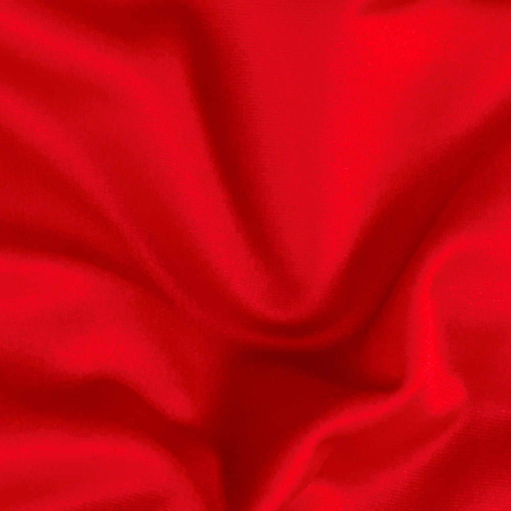 Nylon Lycra Raschel Knit Red Fabric