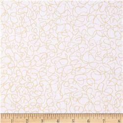 Whisper Prints Squiggles Blanc Fabric