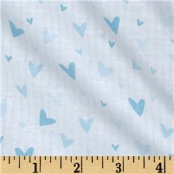 Tutu Cute Hearts Stripe White/Blue Fabric