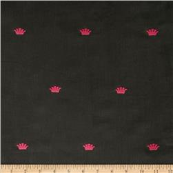 Embroidered 21 Wale Corduroy Crown Graphite/Pink