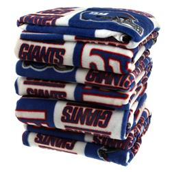 Three Pound NFL Fleece Remnant Bundle New York Giants