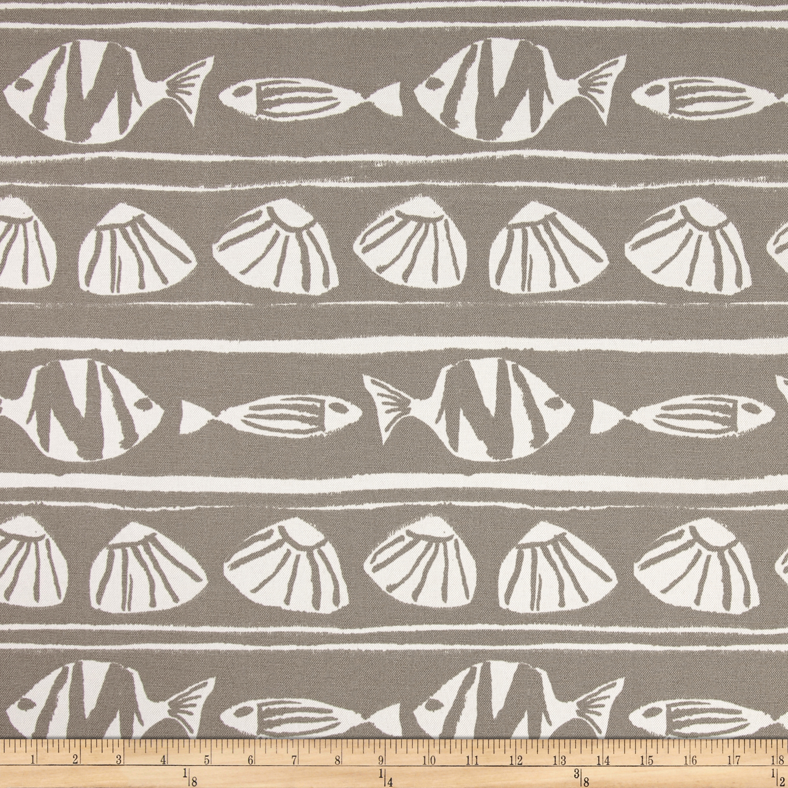 Premier Prints Indoor/Outdoor Caicos Oyster Fabric by Premier in USA