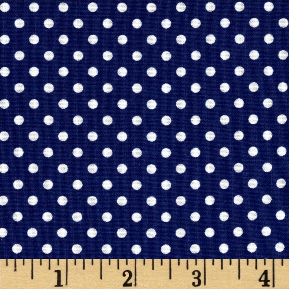 Moda Dottie Small Dots Royal