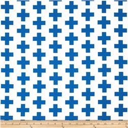 Kaufman Geo Pop Home Decor Canvas Tees Blue