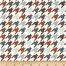 Riley Blake Medium Houndstooth Brown/Grey Fabric