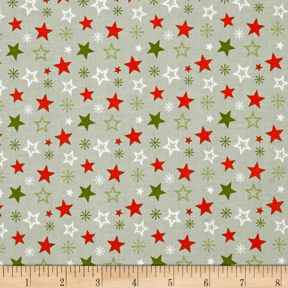 Riley Blake A Merry Little Christmas Merry Star Grey
