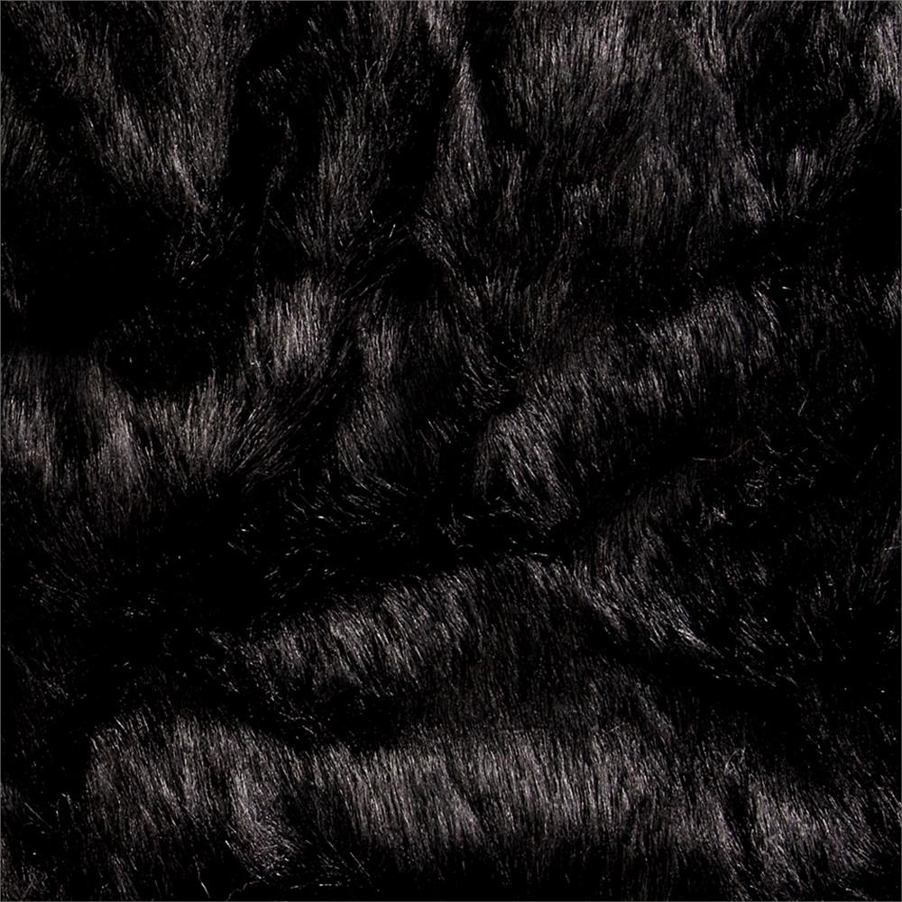 Shannon Luxury Faux Fur Grizzly Faux Fur Black