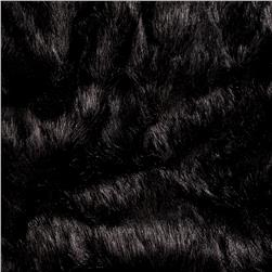 Luxury Faux Fur Grizzly Faux Fur Black