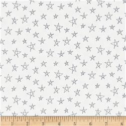 Notepad Stars White/Grey