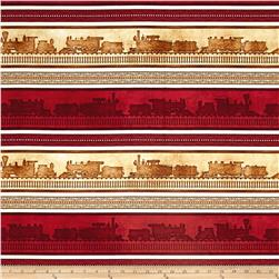 Full Steam Ahead Train Stripe Brick
