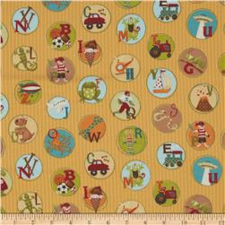 Mischief Flannel Play Chips Yellow