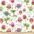 Timeless Treasures Luau Mini Owls White