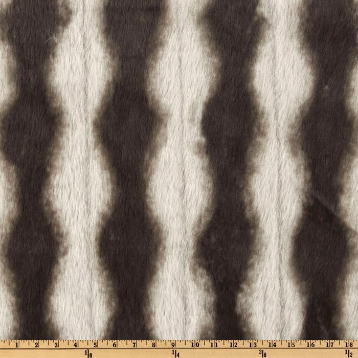 Faux Fur Skunk Black/White