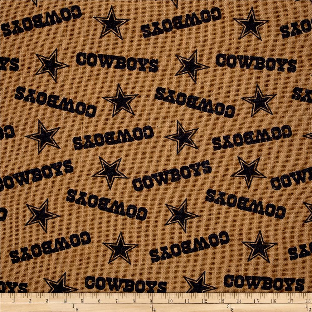 NFL Printed Burlap Dallas Cowboys
