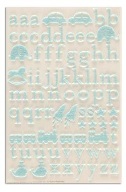 Martha Stewart Crafts Stickers Lower Case Alphabet Blue