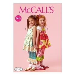 McCall's Children's/Girls' Top, Dress and Pants Pattern M6877 Size CDD
