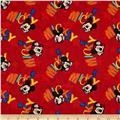 Disney Mickey Mouse Out to Play Tossed Words Red