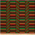 Kanvas Deck the Halls Peppermint Stripe Red/Green/Black