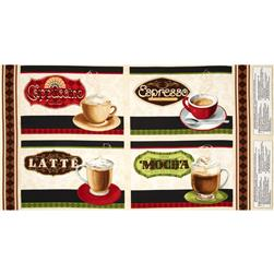 Coffee Moment Placemat Panel Multi Fabric