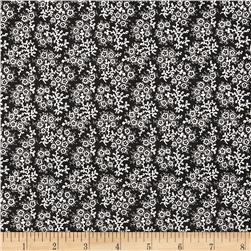 Mini Floral Black/White