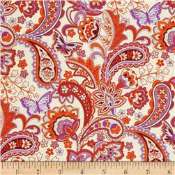 Cassandra Paisley Orange