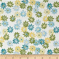 Pocketful of Posies Tossed Daisies White/Blue
