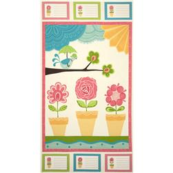 "Moda Chance of Flowers 24"" Panel Cloud"