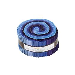"Robert Kaufman Kona Solids Blueberry Thicket 2.5"" Jelly Roll"