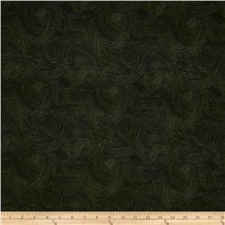 Fernwood Wave Dots Dark Leaf