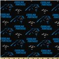 NFL Cotton Broadcloth Carolina Panters Black/Blue