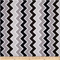 Riley Blake Speedster Sporty Chevron Grey Fabric